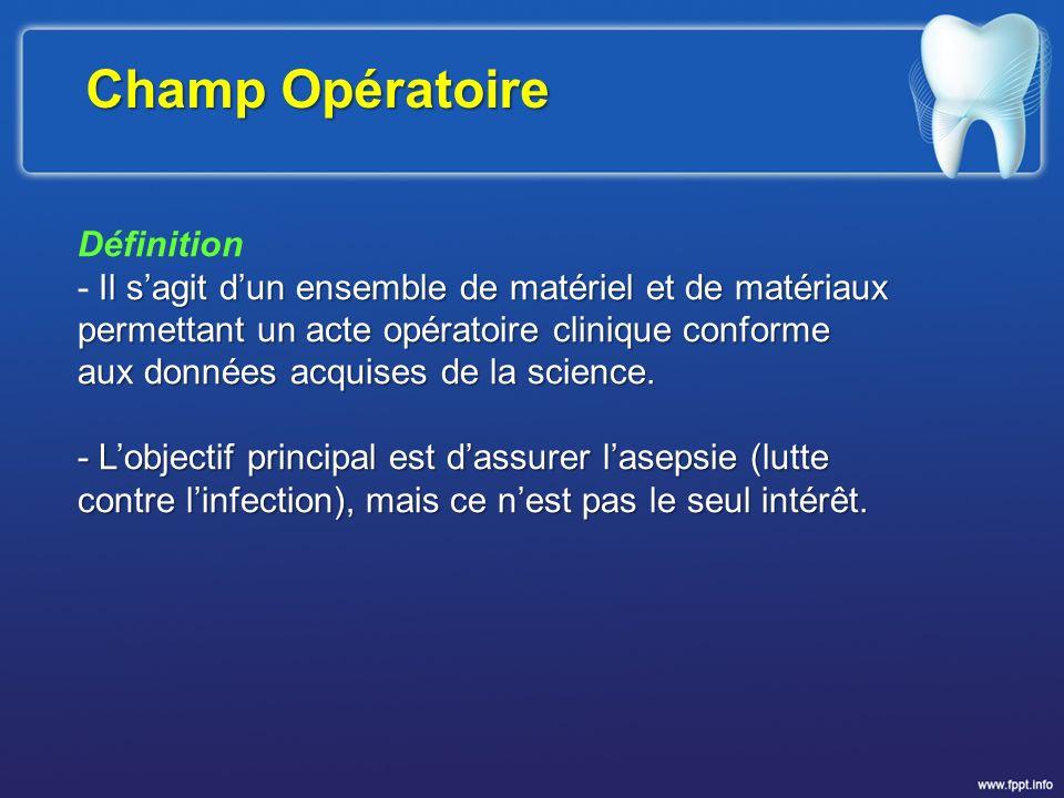 Champ Opératoire Définition