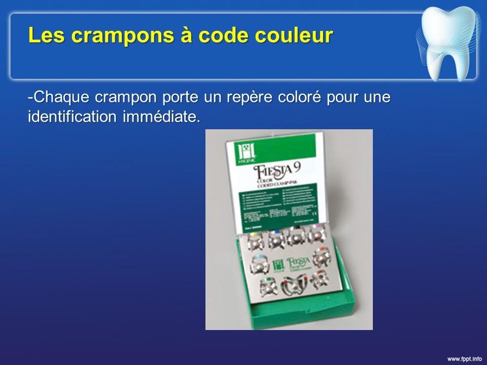 Les crampons à code couleur