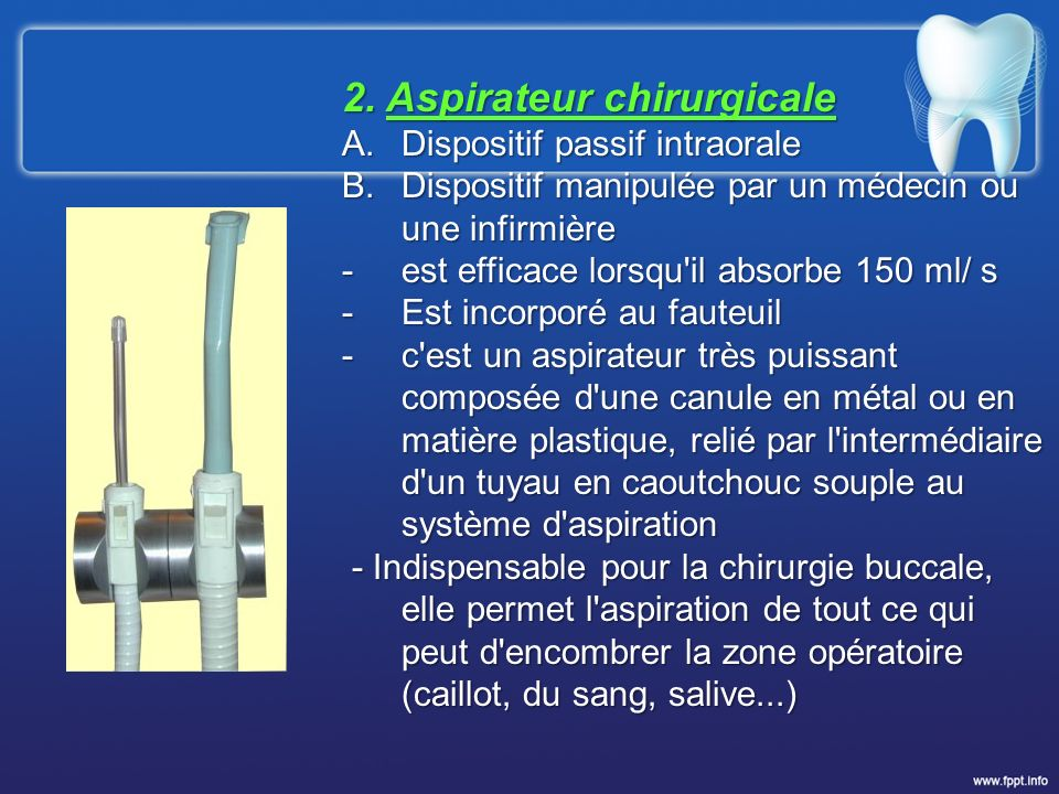 2. Aspirateur chirurgicale