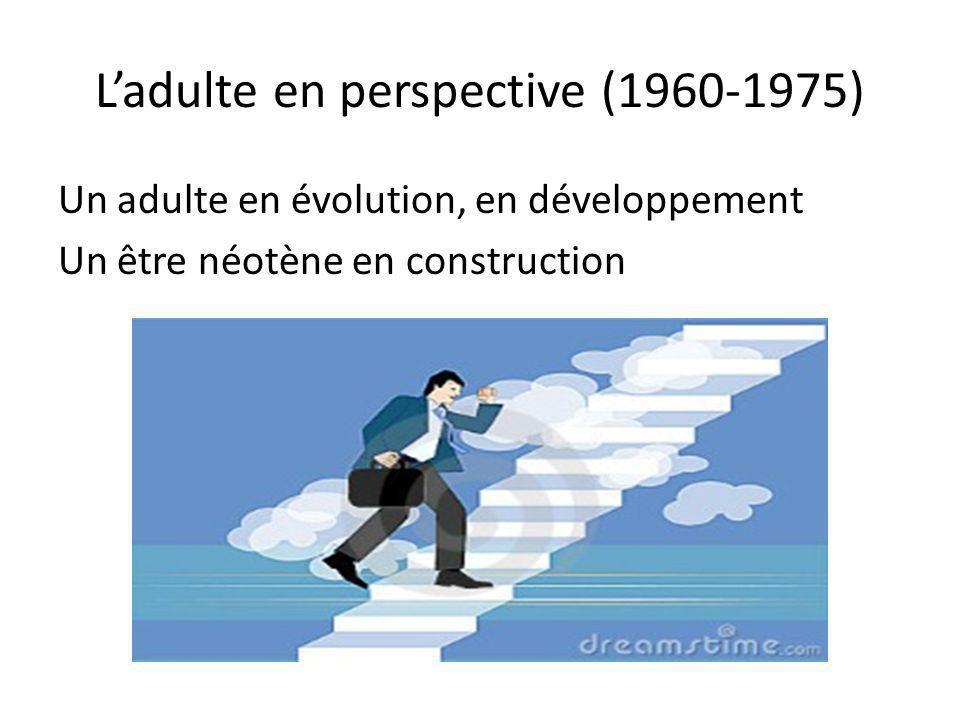 L'adulte en perspective (1960-1975)