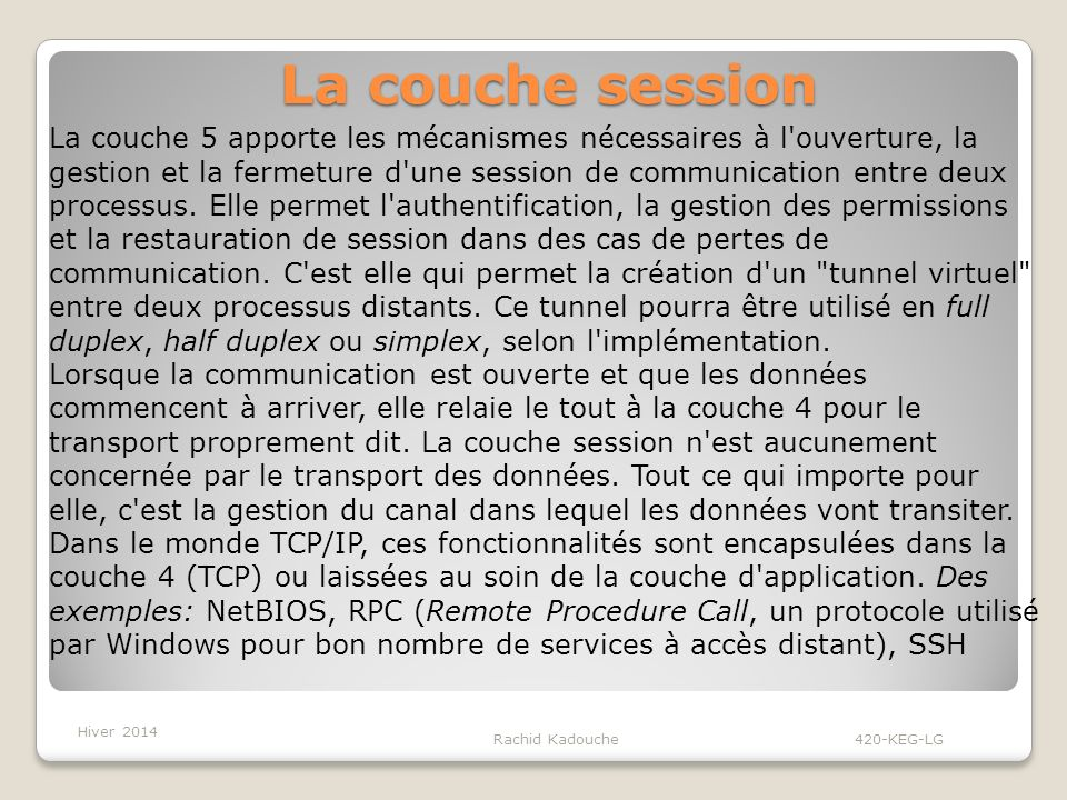 La couche session