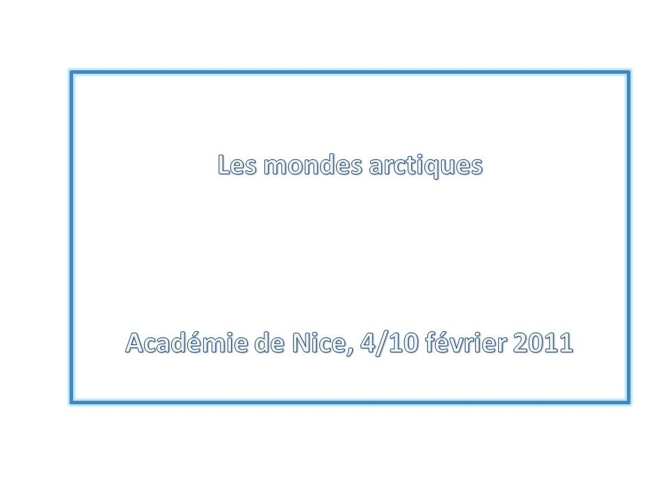 Académie de Nice, 4/10 février 2011