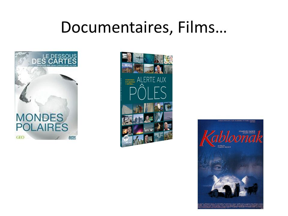 Documentaires, Films…