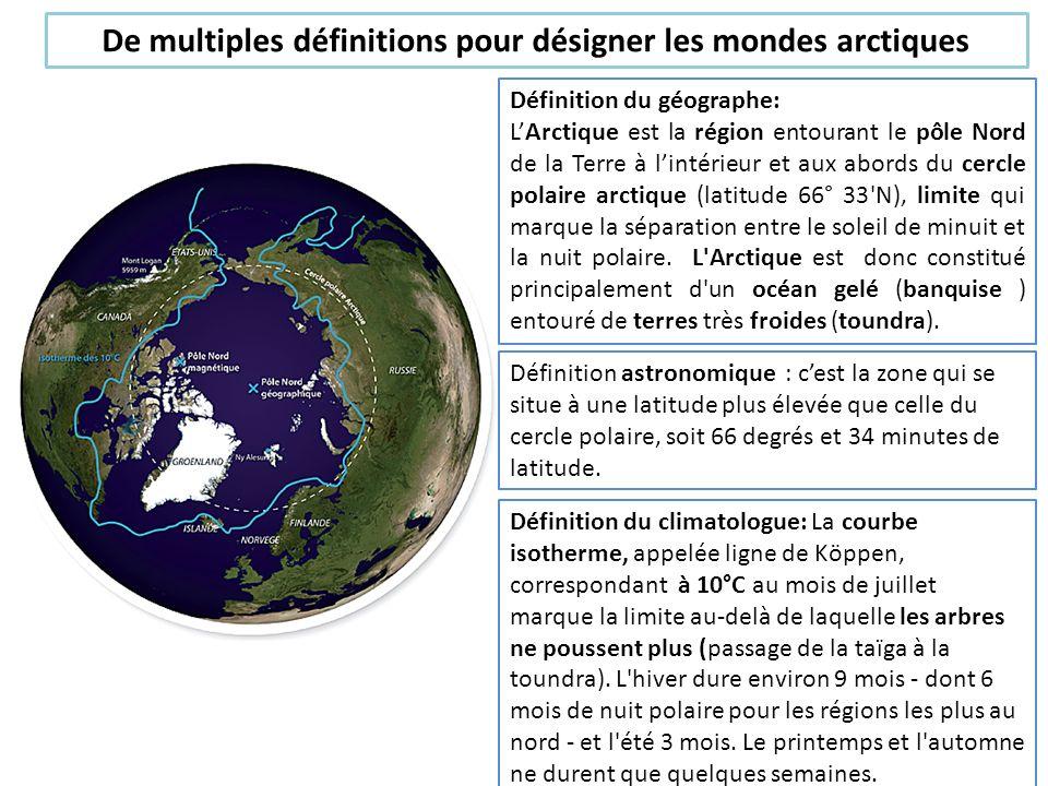 De multiples définitions pour désigner les mondes arctiques