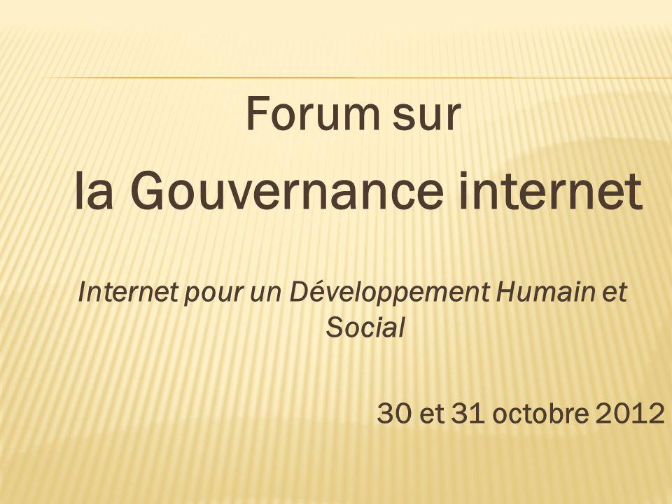 Forum sur la Gouvernance internet