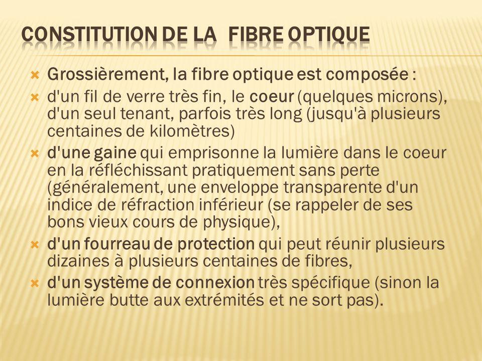 Constitution de la fibre optique