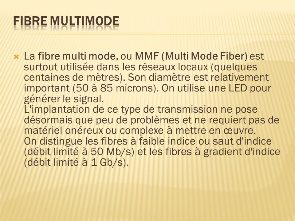 Fibre multimode