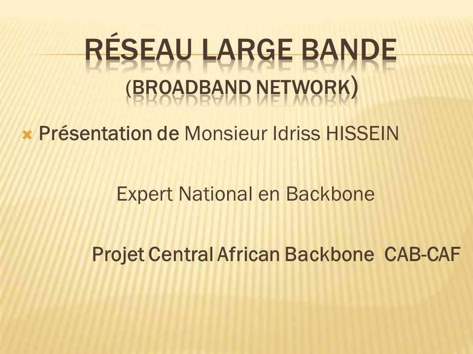 Réseau large bande (broadband network)