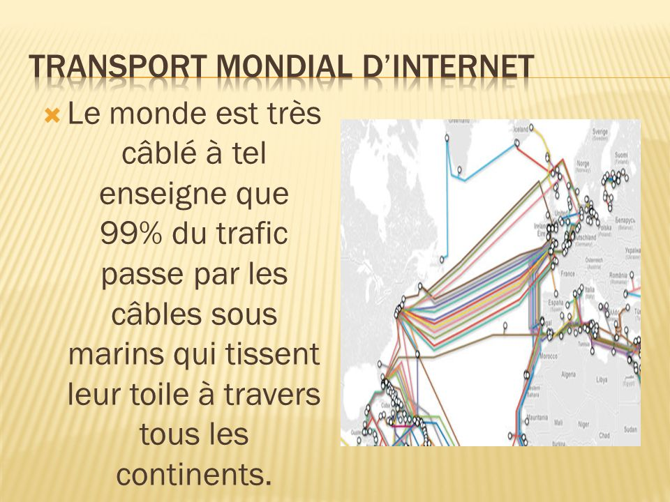 Transport mondial d'internet