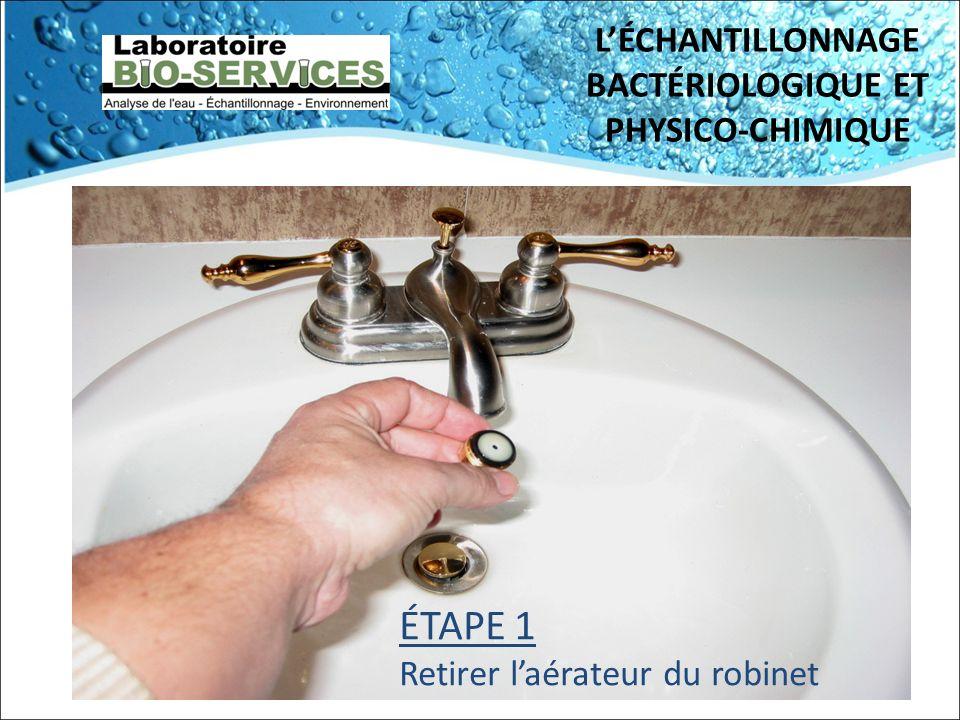L'ÉCHANTILLONNAGE BACTÉRIOLOGIQUE ET PHYSICO-CHIMIQUE