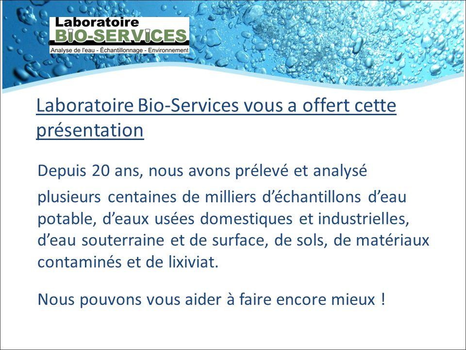 Laboratoire Bio-Services vous a offert cette présentation