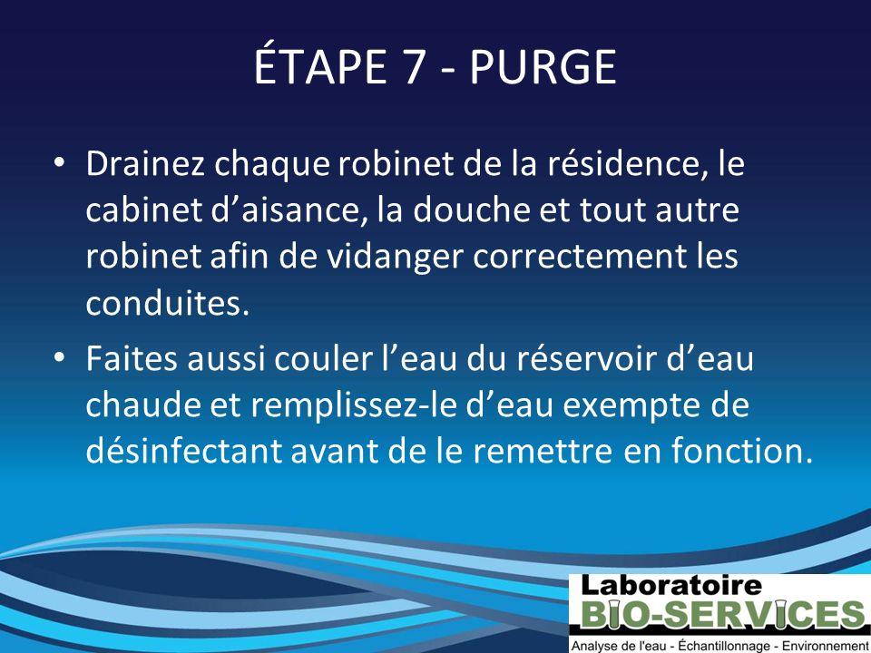 ÉTAPE 7 - PURGE