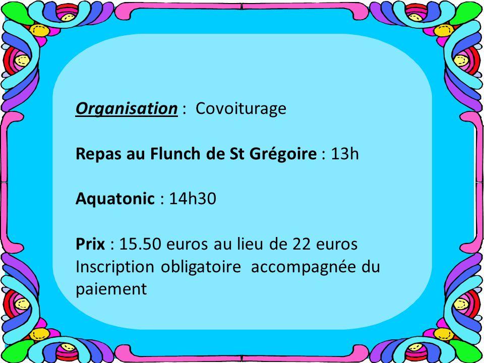 Organisation : Covoiturage