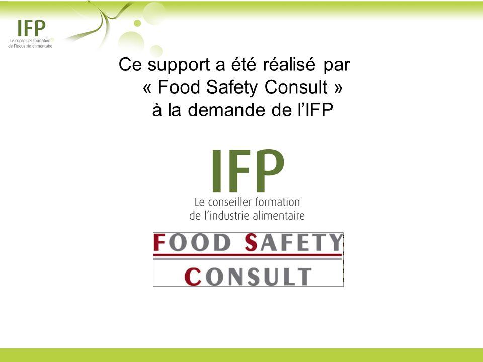 Ce support a été réalisé par « Food Safety Consult » à la demande de l'IFP