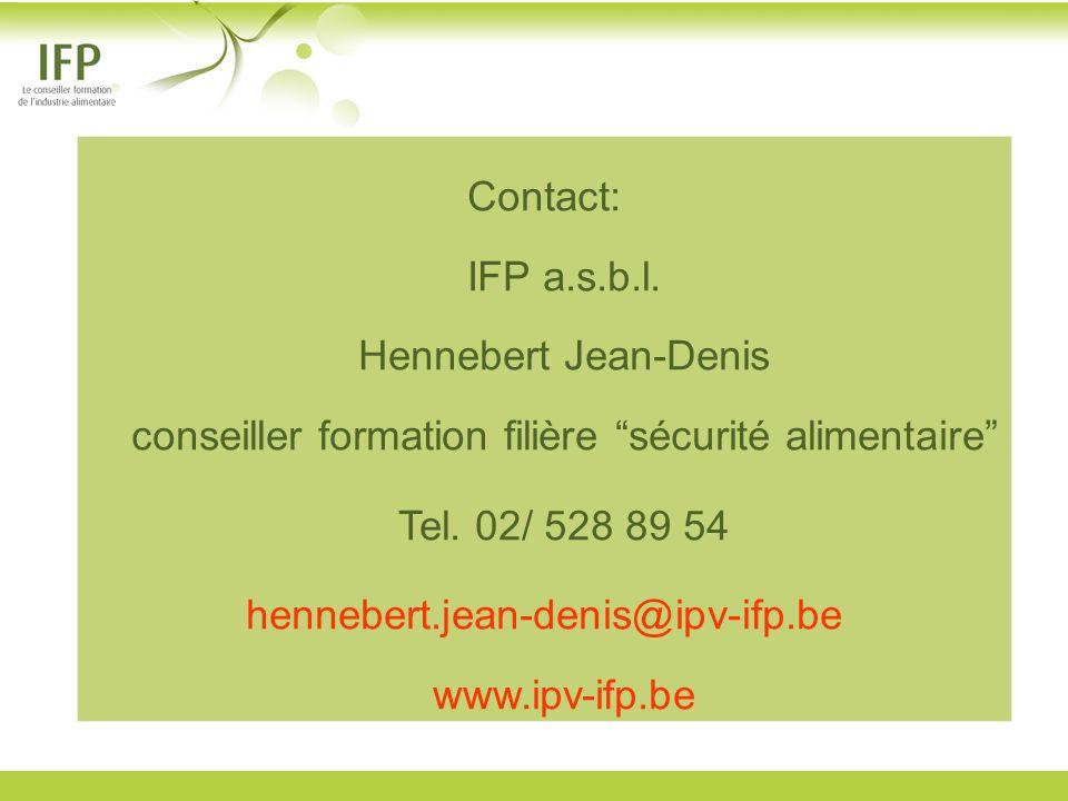 hennebert.jean-denis@ipv-ifp.be www.ipv-ifp.be