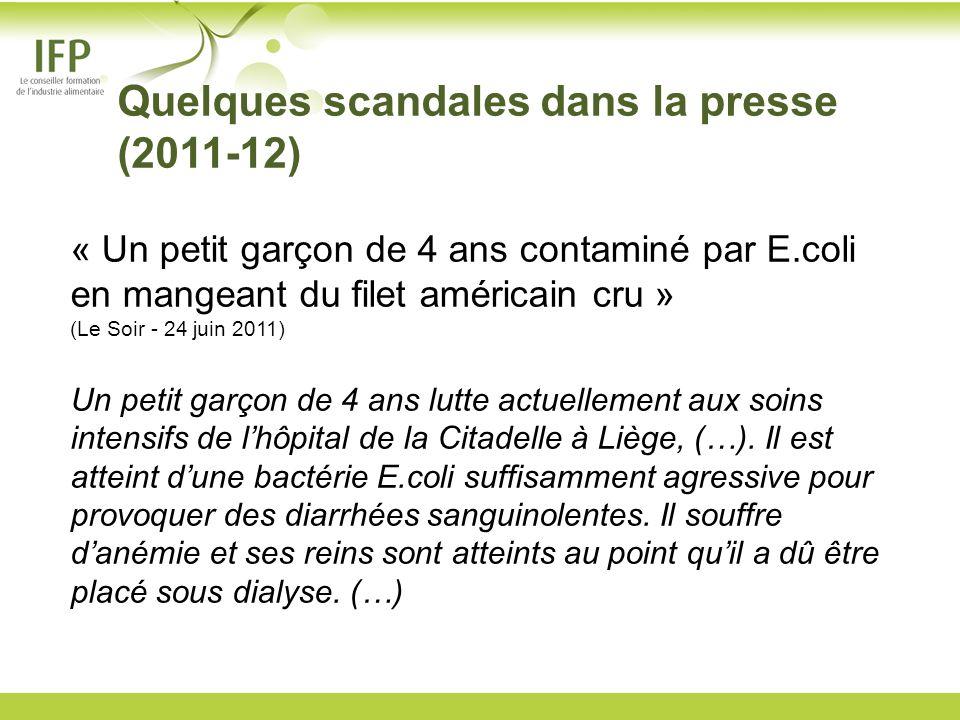 Quelques scandales dans la presse (2011-12)