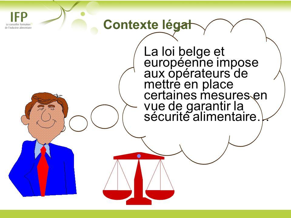 Contexte légal La loi belge et européenne impose aux opérateurs de mettre en place certaines mesures en vue de garantir la sécurité alimentaire…
