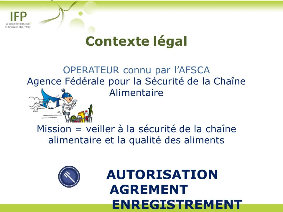 AUTORISATION AGREMENT ENREGISTREMENT