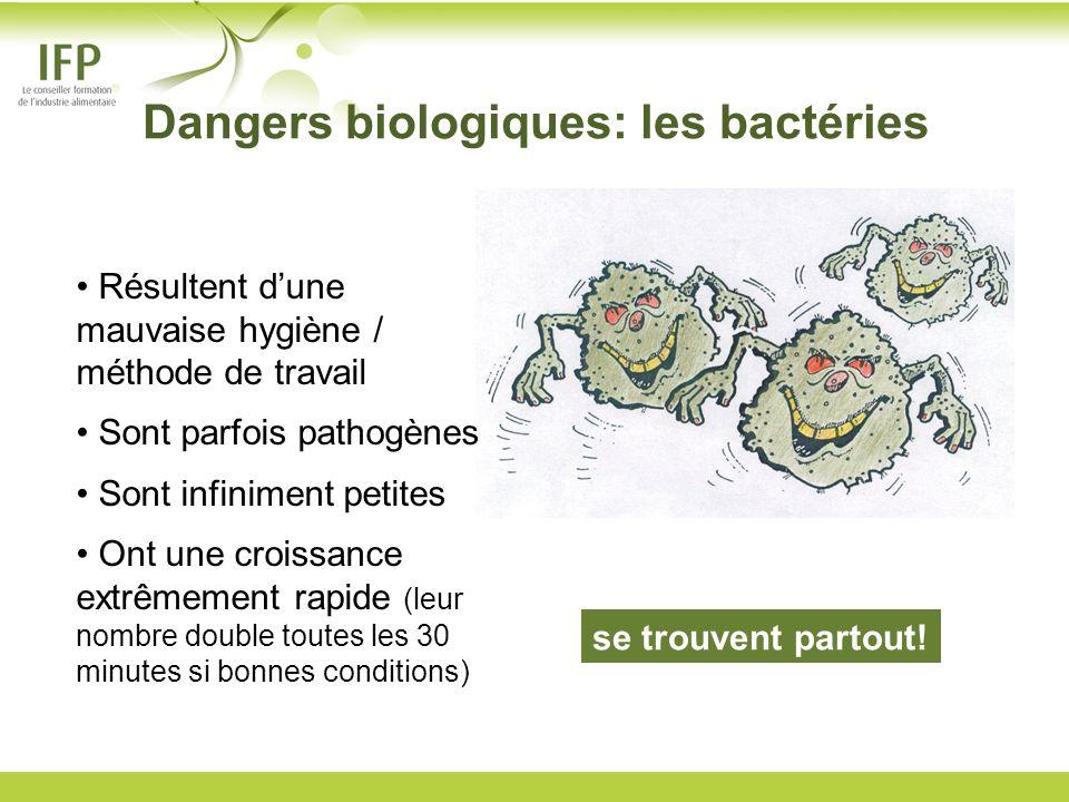 Dangers biologiques: les bactéries