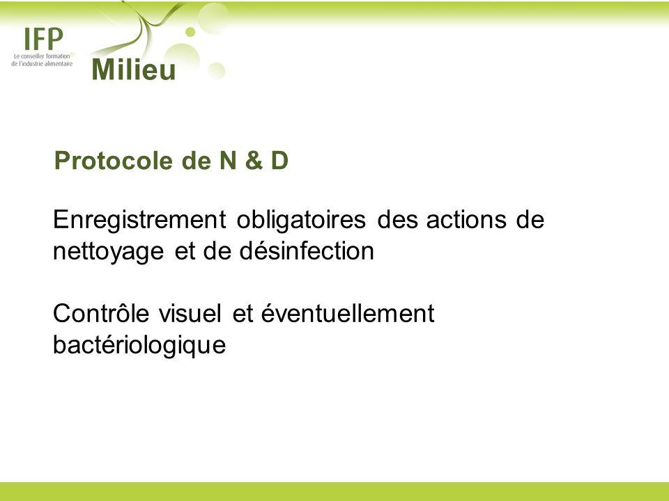 Milieu Protocole de N & D