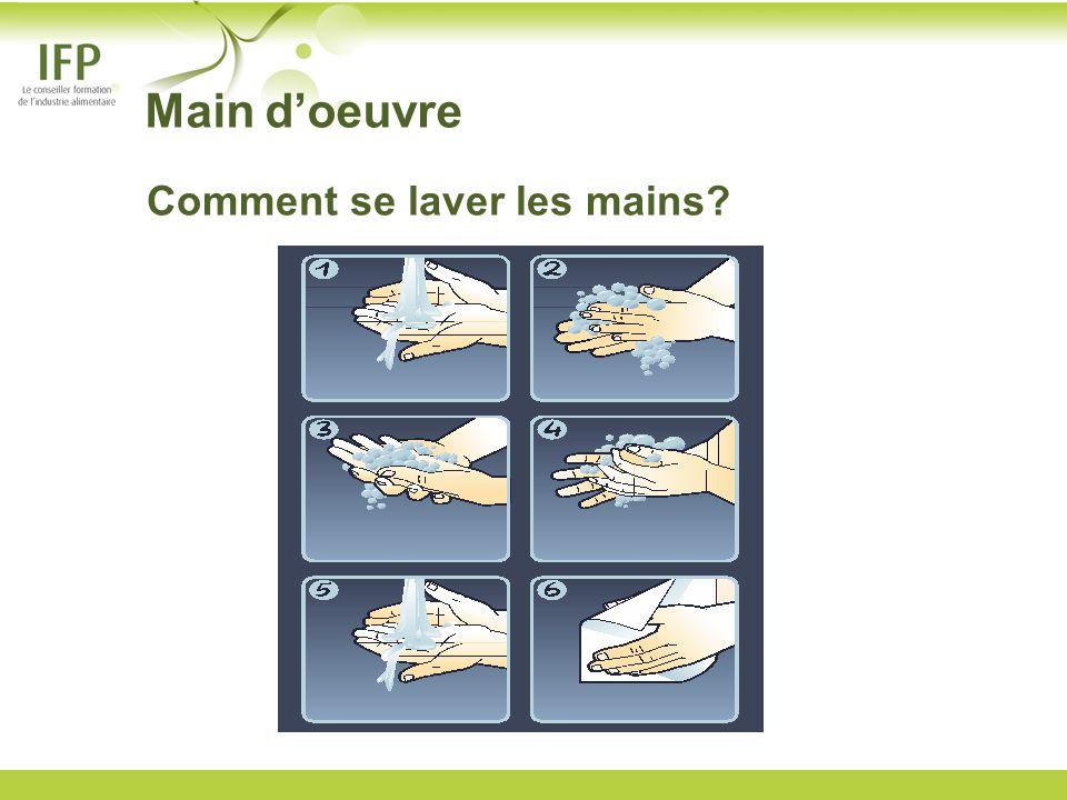 Main d'oeuvre Comment se laver les mains