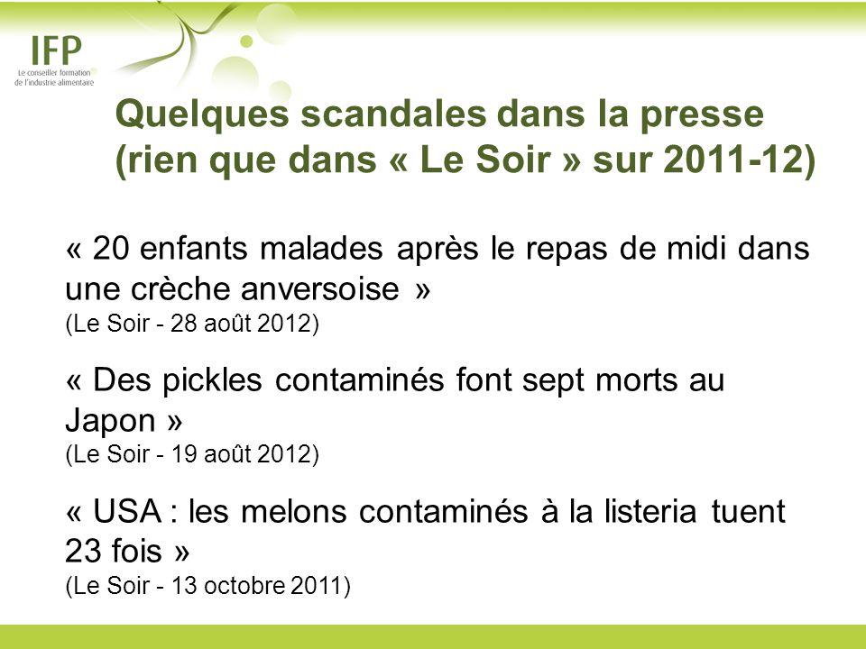 Quelques scandales dans la presse (rien que dans « Le Soir » sur 2011-12)