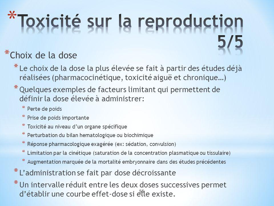 Toxicité sur la reproduction 5/5