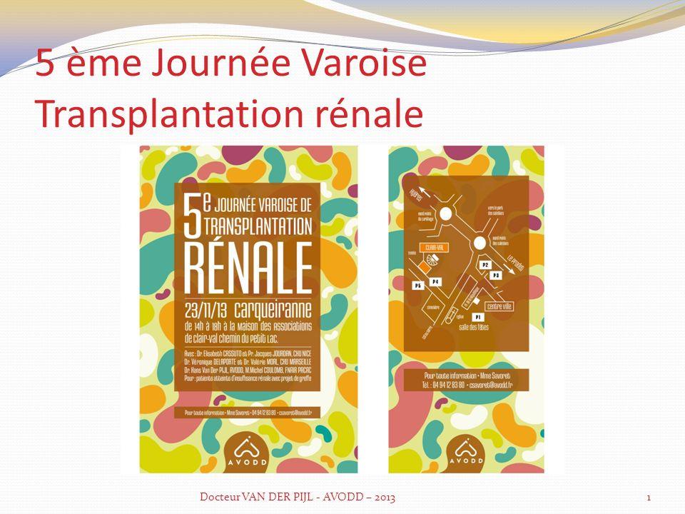 5 ème Journée Varoise Transplantation rénale