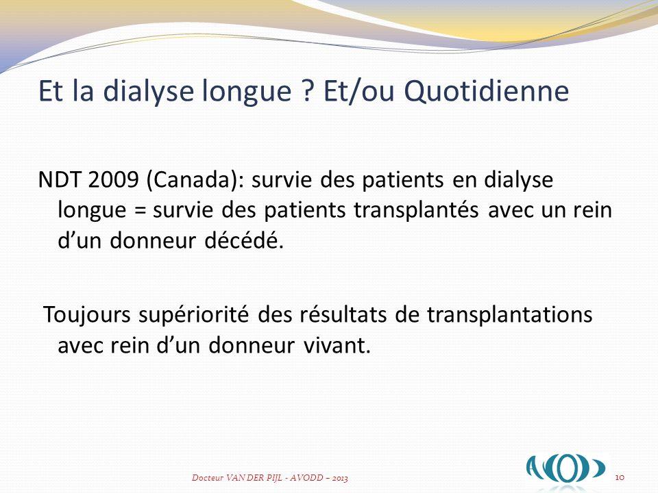 Et la dialyse longue Et/ou Quotidienne