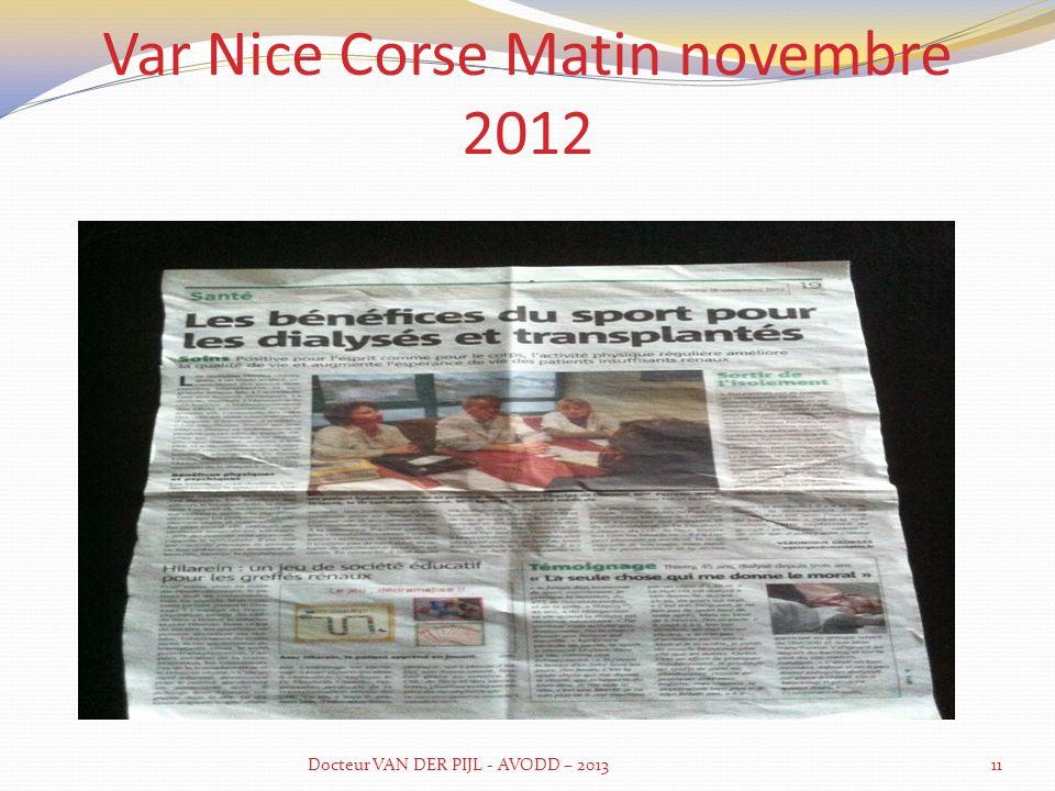Var Nice Corse Matin novembre 2012