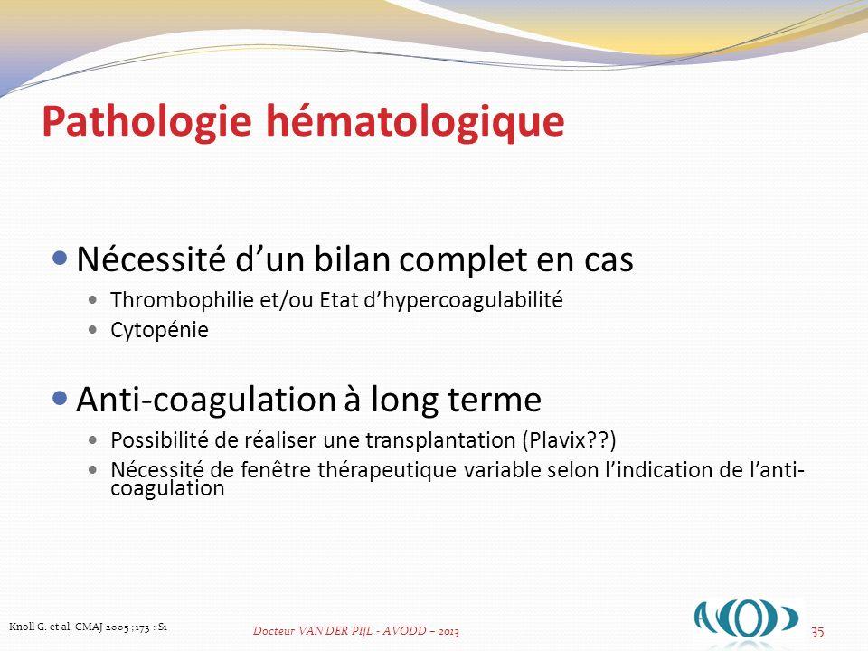 Pathologie hématologique
