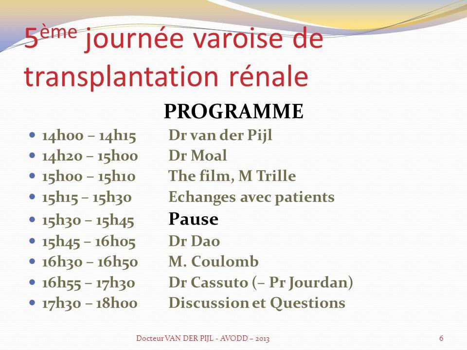 5ème journée varoise de transplantation rénale