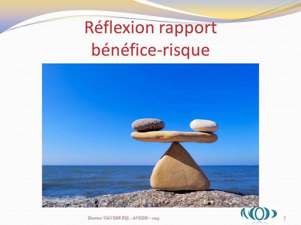 Réflexion rapport bénéfice-risque