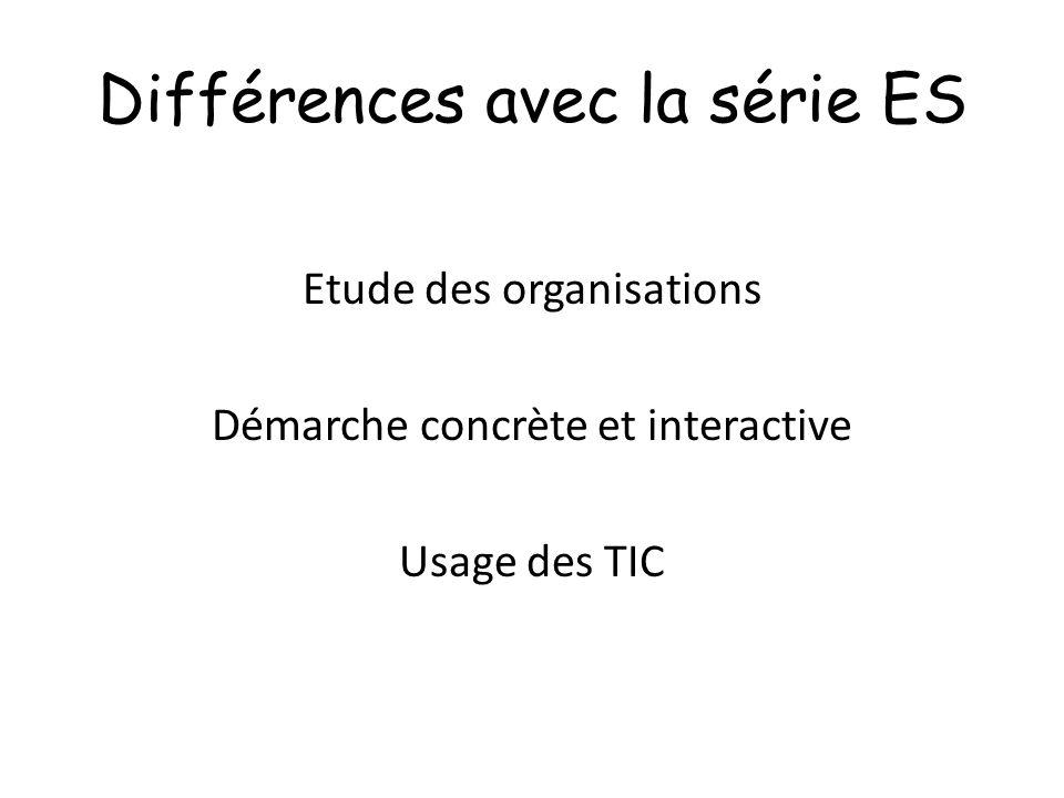 Différences avec la série ES