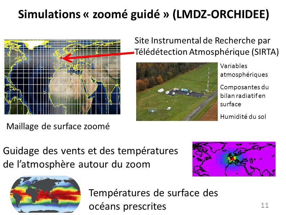 Simulations « zoomé guidé » (LMDZ-ORCHIDEE)