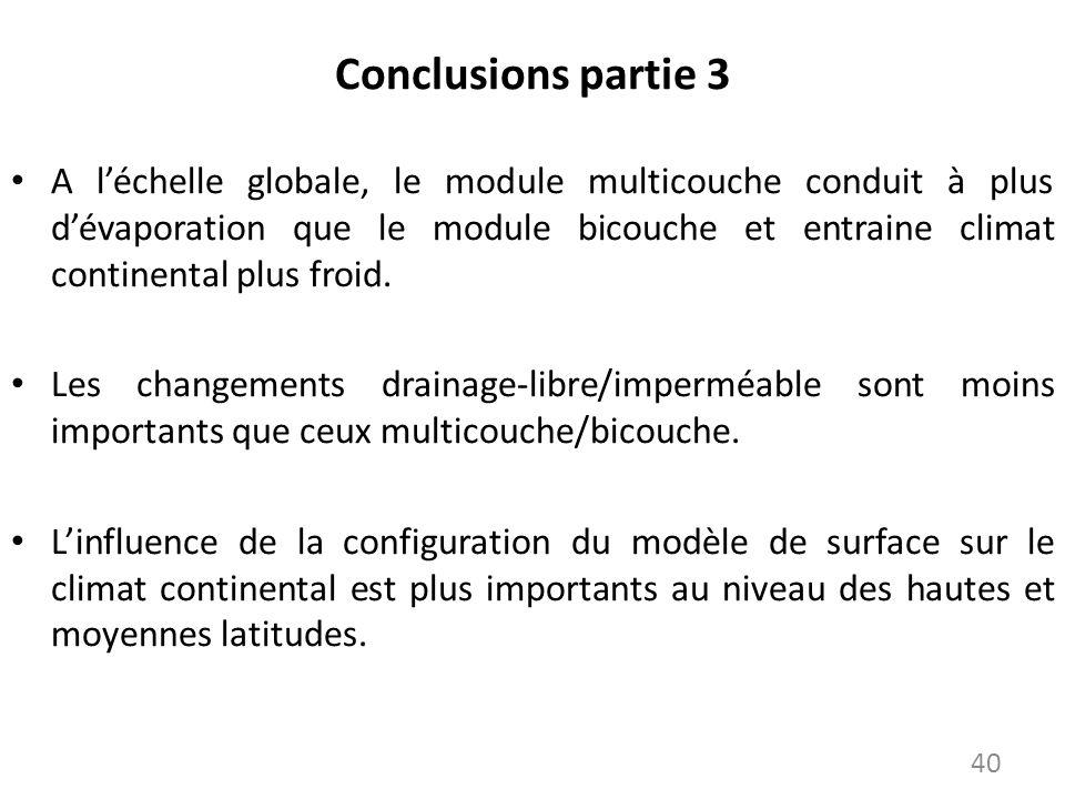Conclusions partie 3