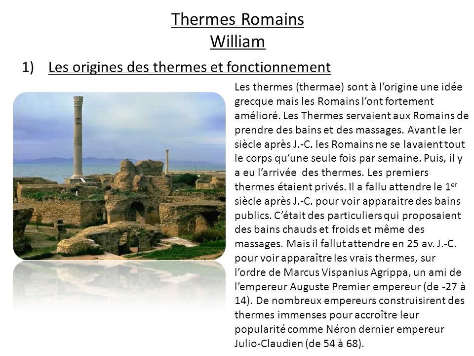 Thermes Romains William