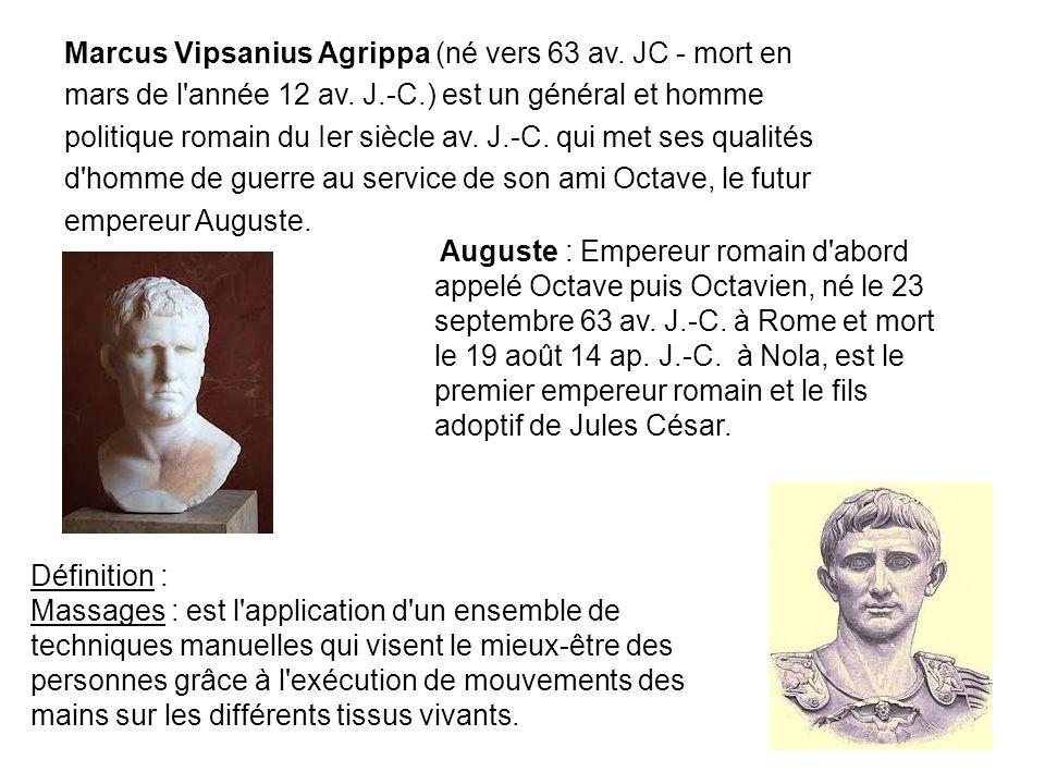Marcus Vipsanius Agrippa (né vers 63 av