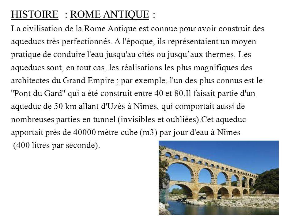 HISTOIRE : ROME ANTIQUE :