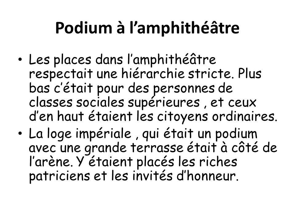 Podium à l'amphithéâtre