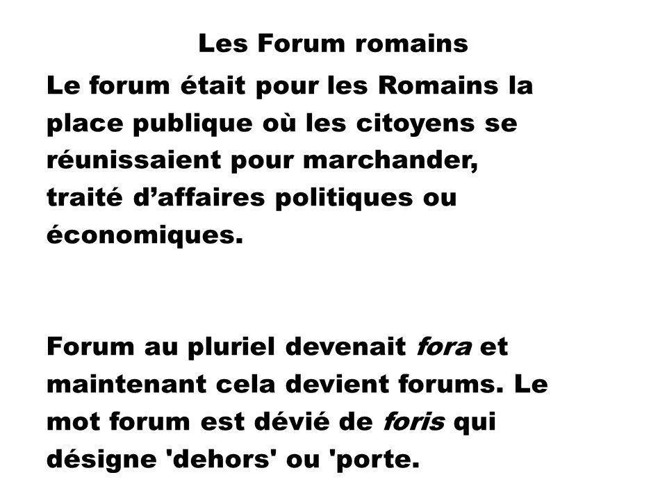 Les Forum romains