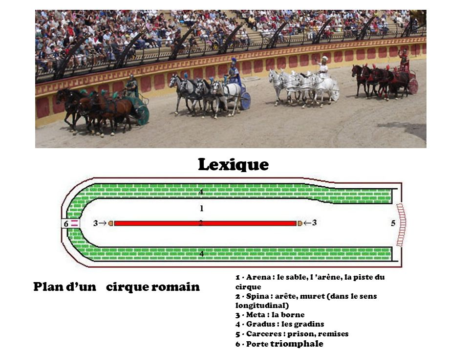 Plan d'un cirque romain