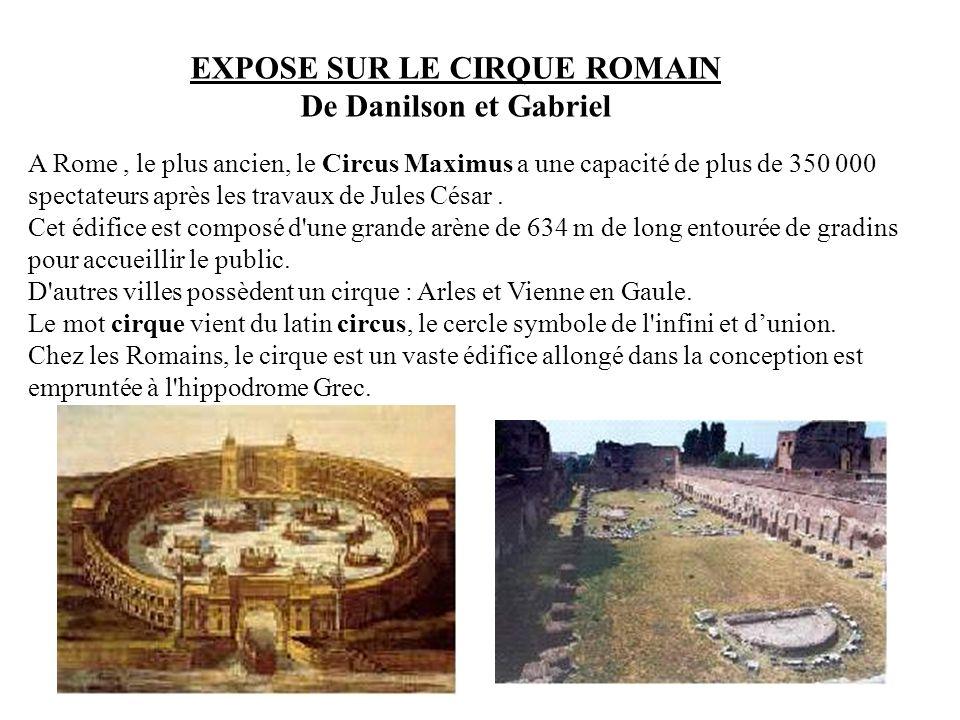 EXPOSE SUR LE CIRQUE ROMAIN