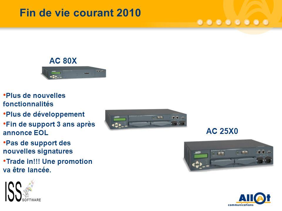 Fin de vie courant 2010 AC-10000/AC-5000 AC 80X AC 25X0