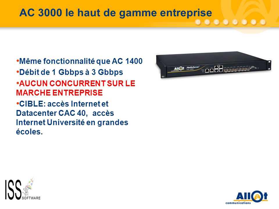 AC 3000 le haut de gamme entreprise