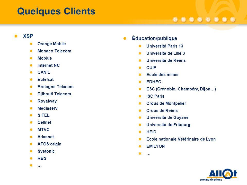 Quelques Clients XSP Éducation/publique Orange Mobile