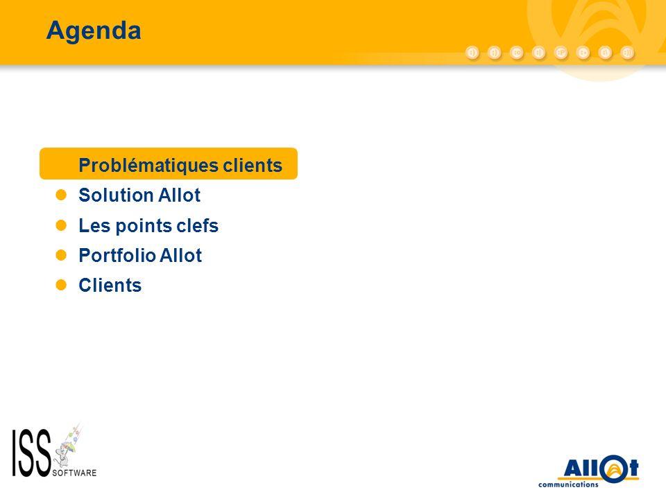 Agenda AC-10000/AC-5000 Problématiques clients Solution Allot