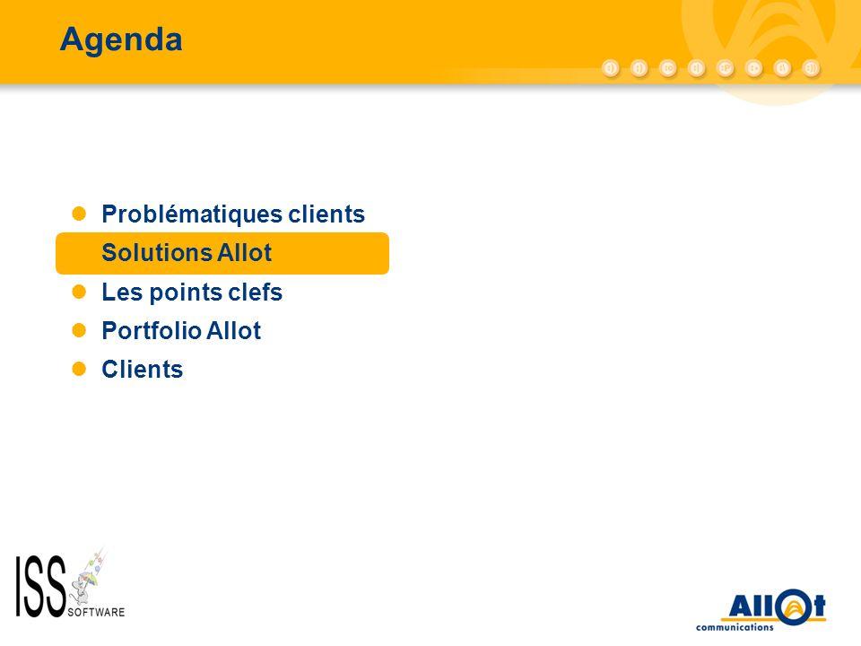 Agenda AC-10000/AC-5000 Problématiques clients Solutions Allot