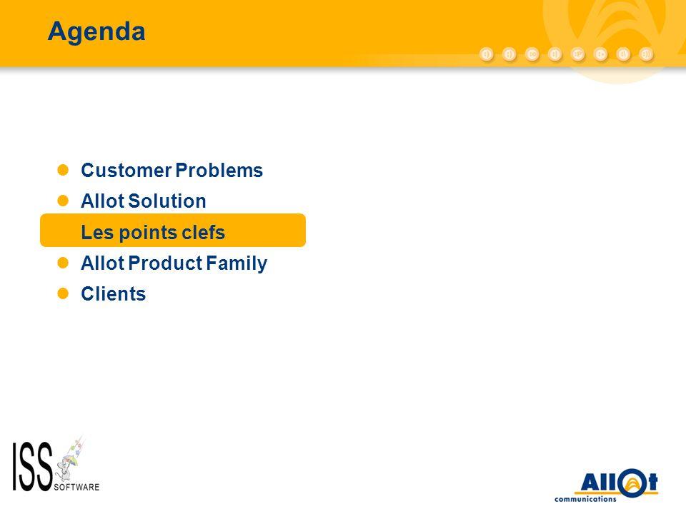 Agenda AC-10000/AC-5000 Customer Problems Allot Solution