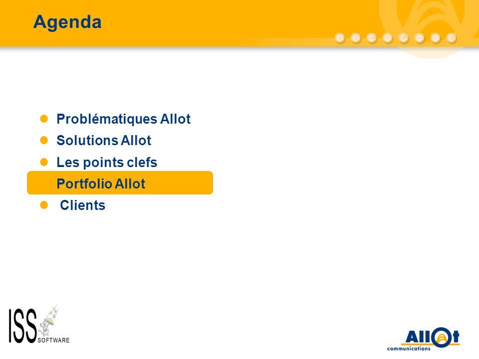 Agenda AC-10000/AC-5000 Problématiques Allot Solutions Allot